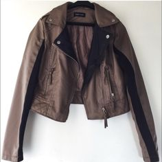 Faux Leather Jacket Never worn. In perfect condition! Jackets & Coats