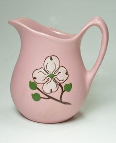 Pink Creamer Pigeon Forge Pottery Dogwood Flower
