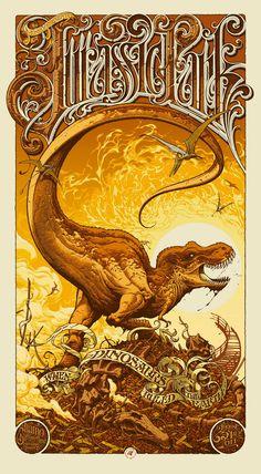 BLACKOSPREY x MEGAFAUNA: Jurassic Park (ジュラシック・パーク) | art by Aaron Horkey