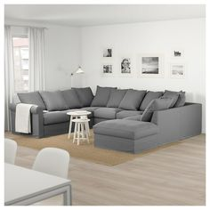GRÖNLID with open end/Tallmyra light green, U-shaped sofa, 6 seat - IKEA Love Sac Sectional, U Shaped Sectional Sofa, Comfy Sectional, Small Sofa, Large Sofa, New Living Room, Living Room Sofa, Sofa Furniture, Pallet Furniture