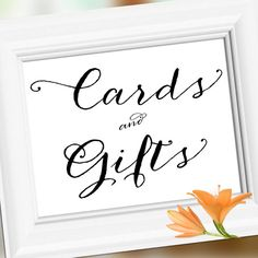 Cards and Gifts Wedding Reception Sign by weddingfusion on Etsy