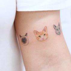 Tatuagem delicada gatos