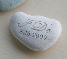 Wedding stone - I DO Oathing Stone - Wedding Vow, Anniversary, Ceremony - Double sided engraved wedding stone by sjEngraving