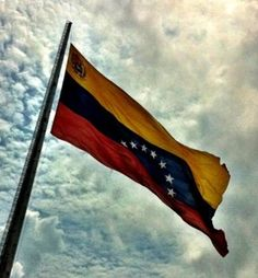 The Flag has three colors which, are Yellow, Blue, and Red. The Flag also has 8 stars on it making a half circle in the middle. Pray For Venezuela, Venezuela Flag, The Beautiful Country, Beautiful Places, Flags Of The World, National Flag, South America, Around The Worlds, Half Circle