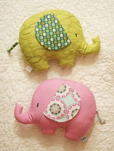 Retro Mama Elephant Softies sewing class- diy these little elephant pillows!
