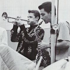 themaninthegreenshirt:Chet Baker and Art Pepper, 1956
