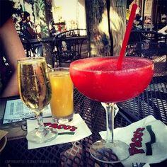 Cocktail-Gläser Frozen Erdbeer-Margarita Cocktailrezept - Vorsicht: Kalorien-Bombe