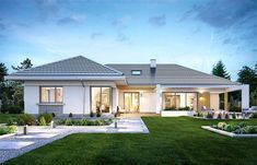 foptract Modern Farmhouse Exterior Design Ideas for Stylish but Simple Look Modern Bungalow House, Bungalow House Plans, Modern Mansion, Barn House Plans, Dream House Plans, Modern Beach Decor, House Outside Design, House Design Pictures, House Construction Plan