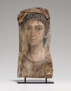 (c. 55-75 CE) Painted Mummy Portrait of a Woman
