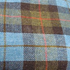 Tartan Tweeds - Any tartan can also be woven in tweed fabric. The characteristic uneven texture of Harris Tweed in particular wonderfully evokes authentic old tartans. (Gunn Tartan in Harris Tweed)