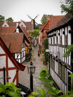 This is the old town in Aarhus, Denmark