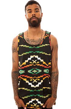 10 Deep x Tribes TANK TOP in Black Native - Streetwear Clothes