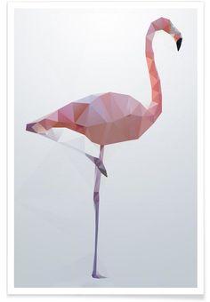 Flamingo en Affiche premium par Three Of The Possessed | JUNIQE