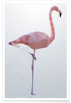 Flamingo en Affiche premium par Three Of The Possessed | JUNIQE