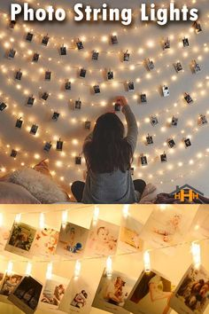 Photograph String Lights hang & illuminate your favorite memories making your Home warm and comfortable. They're easy to set up and make the perfect Christmas gift for Family and loved ones. Girl Room, Girls Bedroom, Bedroom Decor, Bedroom Ideas, Bedrooms, Family Christmas Gifts, Perfect Christmas Gifts, Grad Parties, New Room