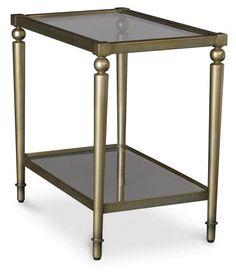 silver lake round accent table - art van furniture   condo