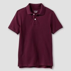 Boys' Pique Polo T-Shirt Cat & Jack - Burgundy (Red) S, Boy's