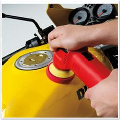 Griot's Garage 3 Inch Polisher makes it easy to polish motorcycles!