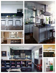 open shelves.  Kitchen Inspiration: Islands