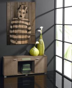 Cuadros Decorativos con Palets : Modelo CHAPLIN VII www.decoracionbeltran.com