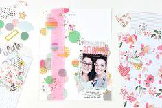Finally Reunited Scrapbook Layout | Suzanna Stein