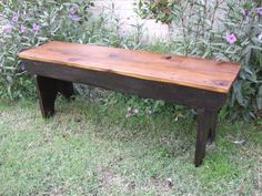 The Arcadian Cottage Bench Classic five board bench made with reclaimed barn wood hand made by Arcadian Cottage in Phoenix, Arizona