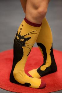Sock It To Me Chat Noir Knee Highs