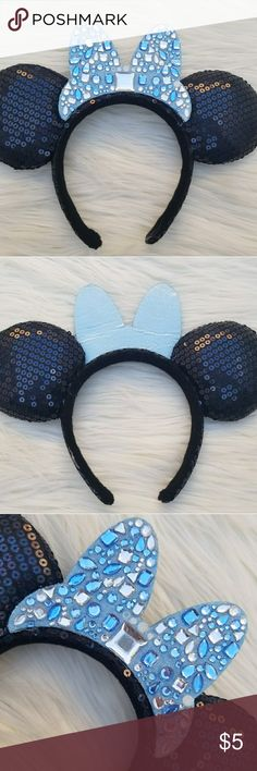 Disney Parks 60th Anniversary Minnie Mouse Ears Authentic Disney Parks Minnie Mouse 60th Anniversary Ears Headband. As seen in the pictures, so please review my pictures carefully to form your own opinion about the items [fair] condition and wear. Comes from a smoke & pet free home. Don't forget to check out my closet for more Disney items up for sale. Bundle and Save on shipping! Feel free to contact me with any questions. I ship withing 1-2 business days. Keep in mind there are seller fees…