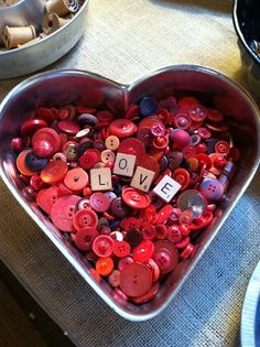 Take photos of words and matching buttons for valentine's day or anniversary!