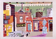 New York Under Gaslight, Stuart Davis, 1941, oil on canvas. The Israel Museum, Jerusalem. To our friends in the USA, Happy Independence Day!