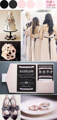 Black and Blush Wedding Colors | http://fabmood.com/blush-black-wedding-ideas/