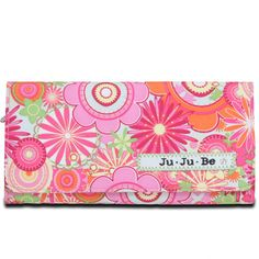 The Ju-Ju-Be Be Rich Wallet - love this wallet! Has a ton of slots for credit cards, outer zipper compartment with divider for coins and bills, just a great wallet! Fun prints too!