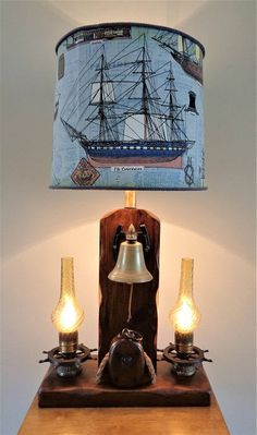 Vintage Milford Guild Barometer Nautical Lamp With A Port
