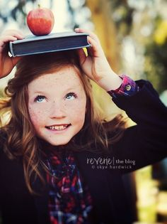 Great idea for back to school portraits!