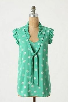 Anthropologie Loosened Shelby Bow  Tied Neckline Porridge blouse Top 8 #Anthropologie #Blouse