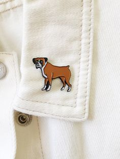 Boxer Lapel Pin By KristinaMicotti On Etsy