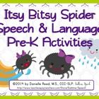 """""""The Itsy Bitsy Spider"""" is a beloved nursery rhyme.  It can also be a very simple to use and language rich theme for preschoolers.  Included in thi..."""