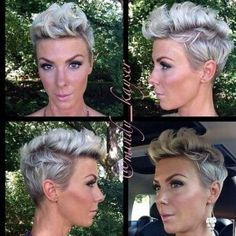 pixie haircut with mowhak Cute Hairstyles For Short Hair, Pixie Hairstyles, Pretty Hairstyles, Short Hair Cuts, Curly Hair Styles, Natural Hair Styles, Pixie Haircuts, Short Wavy, Haircut Short