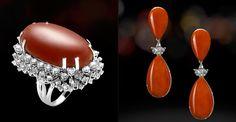 SCALA GIOIELLI & FIGLI Collection - fashion italian jewellery Coral Ring, Italian Jewelry, Red Coral, Cool Style, Diamond Earrings, Blood, Jewels, Fashion, Coral
