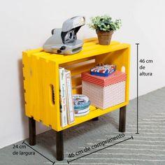 Mesa Lateral Caixote Amarelo e Demolição! - Tadah! Design