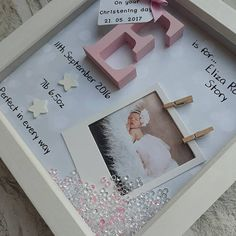 This handmade frame is the perfect gift for any little girl for a birthday or christening, or to welcome a new baby. A beautiful piece of nursery decor. That makes for a lovely keepsake. All words, details and decoration are customisable, so just let us know and we can write whatever