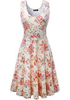 25563896f581e0 KorMei Damen Ärmelloses Beiläufiges Strandkleid Sommerkleid Tank Kleid  Ausgestelltes Trägerkleid Knielang: Amazon.de: Bekleidung