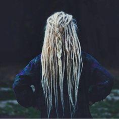 Blonde braided dreads  #dreads #dreadlocks #dreadies