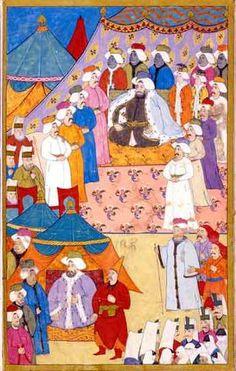 Surname-i Vehbi-Levni-1720 Middle Eastern Men, Iranian Art, Islamic Art Calligraphy, Ottoman Empire, Old Art, Illuminated Manuscript, Painting Inspiration, Art Forms, Street Art