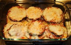 Eggplant Parmigiana - Weight Watchers: 4 servings; 3 pts., 179.9 calories, 5.8 g fats per serving