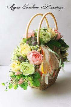 Цветочное настроение Марии Голови.. Make A Crown, Flower Show, Floral Flowers, Holidays And Events, Floral Arrangements, Polymer Clay, Centerpieces, Bouquet, Basket