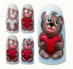 Romantic Nail Designs For Lovely Valentine's Day Awesome nails I know it's kind of plain but it is amazing -love. I'd definitely add a cute tiny red heart to one of the nails Valentine Nail Art, Xmas Nails, Christmas Nail Art, Love Nails, Pink Nails, Romantic Nails, Animal Nail Art, Nail Art Techniques, Disney Nails