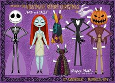 Nightmare before Christmas Paper dolls by Cory