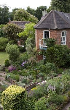stone house cottage garden, overlooking the back garden.