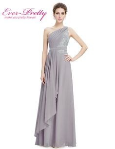 Elegant Gray One Shoulder Bridesmaid Dress One Shoulder Bridesmaid Dresses a04069371b58